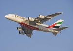 Emirates'  A380 doing a couple of flypasts